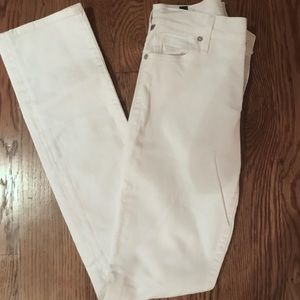 Citizens of Humanity White Jeans- Ava Straight Leg
